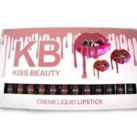 پالت رژلب کیس بیوتی | رژلب مایع kiss beauty | رژلب برند کیس بیوتی | بهترین برند رژلب مایع | قیمت رژ لب kiss beauty | آرایش سرا.