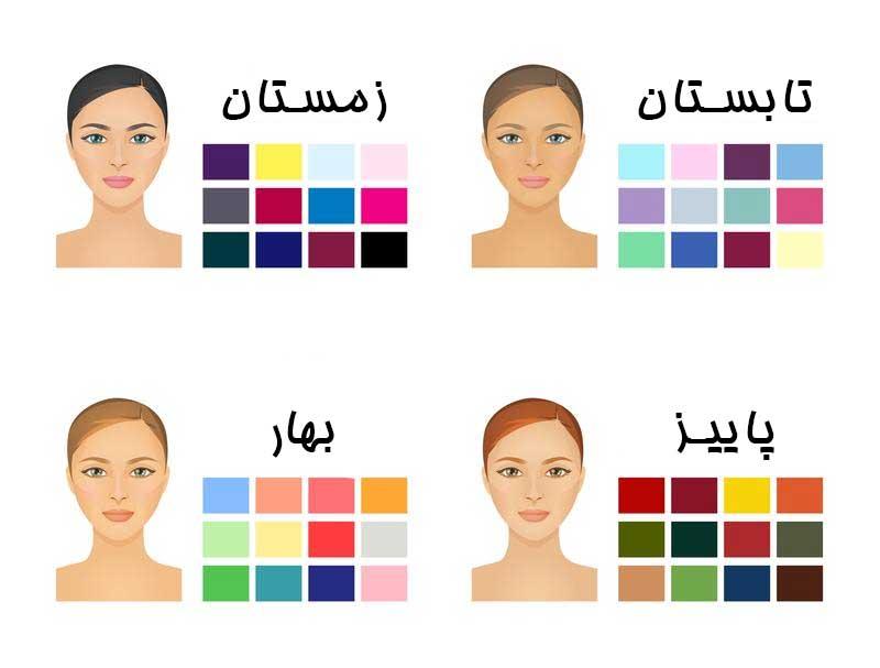انواع-رنگ-های-آرایش-در-فصل-های-مختلف