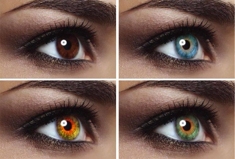 چند نوع رنگ چشم داریم