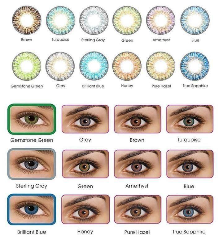 رنگ لنز مناسب برای تمامی رنگ پوست ها