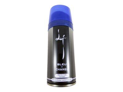 اسپری مردانه لیزا جونز مدل Bleu de chanel| اسپری خنک لیزا جونز | اسپری Bleu de chanel | اسپری بدن lisa jonse | قیمت اسپری مردانه |